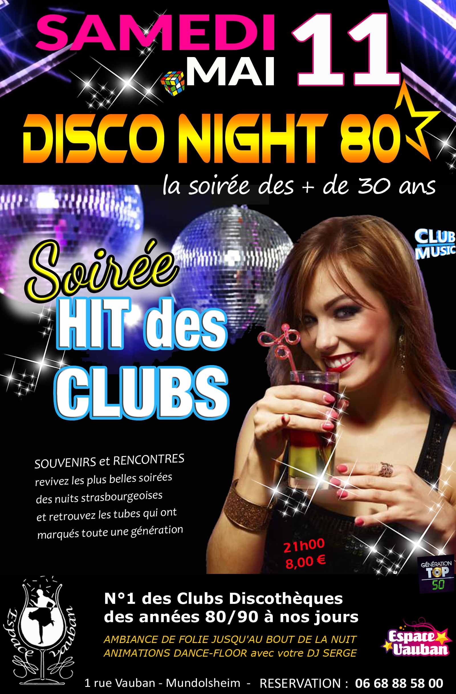 Disco Night 80 - Hit des Clubs - ESPACE VAUBAN